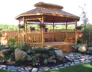 How To Landscape Around My Gazebo Backyard Gazebo Garden