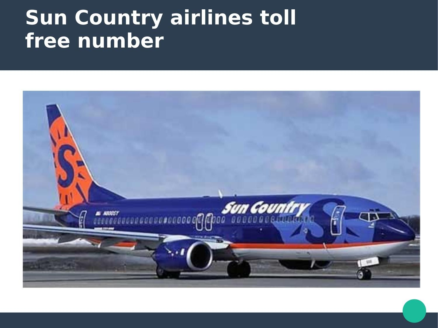 Sun country airlines Customer Support Phone Number 1888
