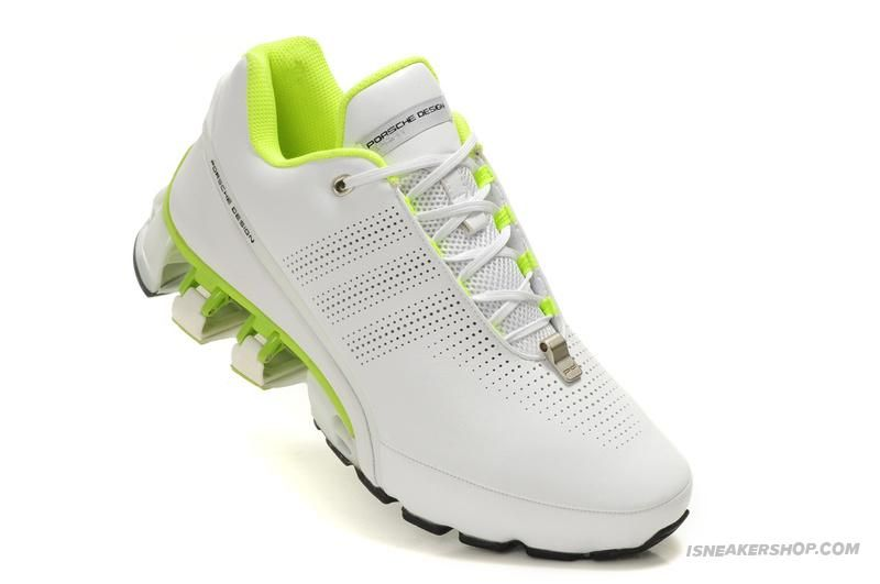 Adidas Porsche Design Sport Men's Bounce S L P'5000 Leather Running Shoes - White  Or