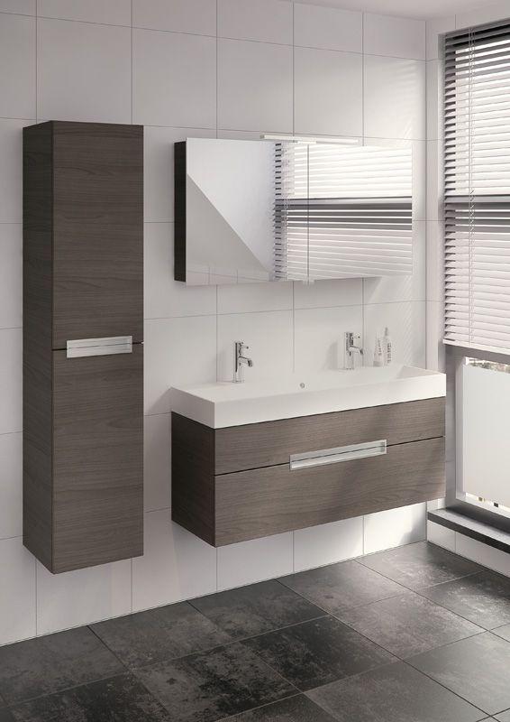 Bruynzeel Mino 120cm badmeubel kolomkast badkamer sanitair