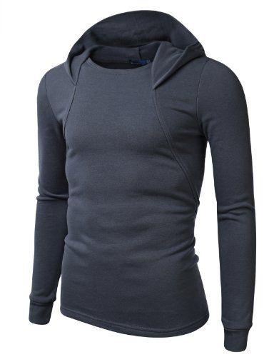 OTW Mens Warm Fleece Solid Color Athletic Full-Zip Hooded Jacket Coat Sweatshirt Outerwear