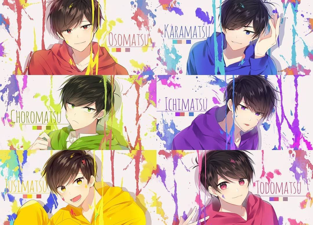 "Anime.All on Instagram: ""かわいいおそ松 😍 #osomatsusan 😎 #osomatsu #karamatsu #joromatsu #ichimatsu #jyushimatsu #todomatsu ♥️ #osomatsu #osomatsu_san #osomatsukun…"""