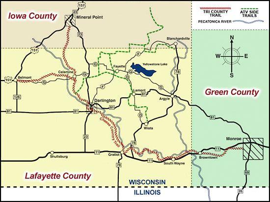 Tri County Trails Iowa County Lafayette County Green County