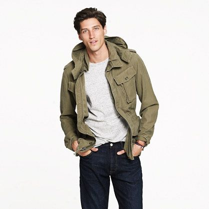 Garrison fatigue jacket- army green utility jacket with simple ...