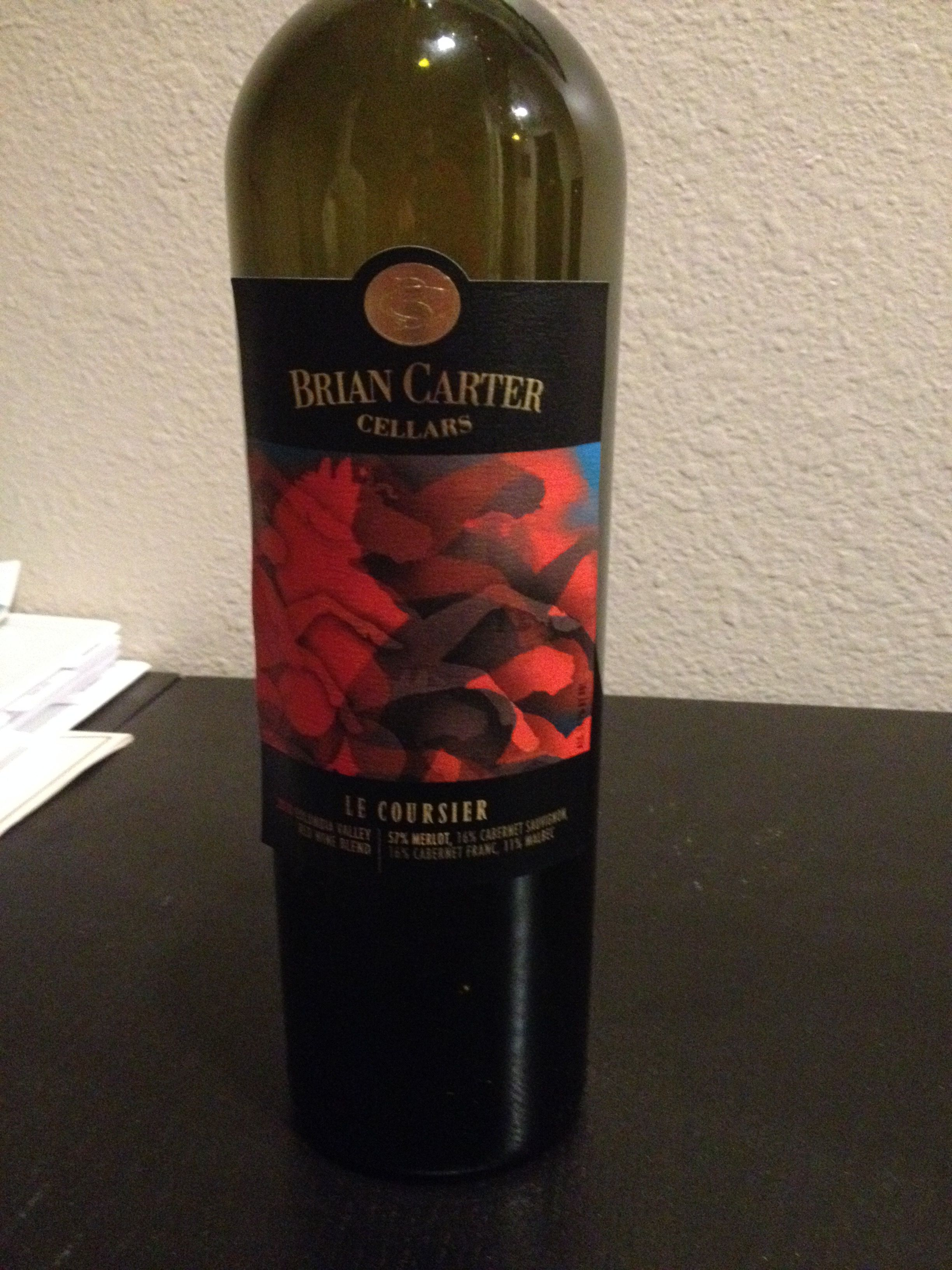2010 Brian Carter Cellars Le Coursier Columbia Valley 57 Merlot 16 Cab Sauv 16 Cab Franc 11 Malbec Excellent Wine From A Malbec Red Wine Winemaking