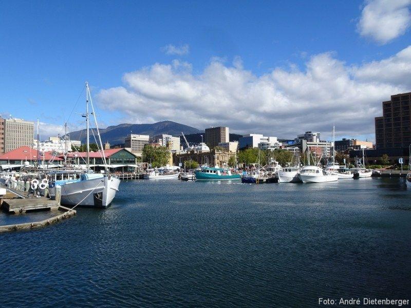 Hobart auf der Insel Tasmanien in Australien