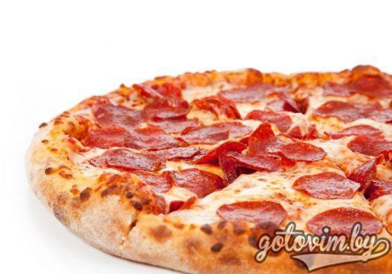 Пицца в домашних условиях с колбасой и сыром - пошаговый ...