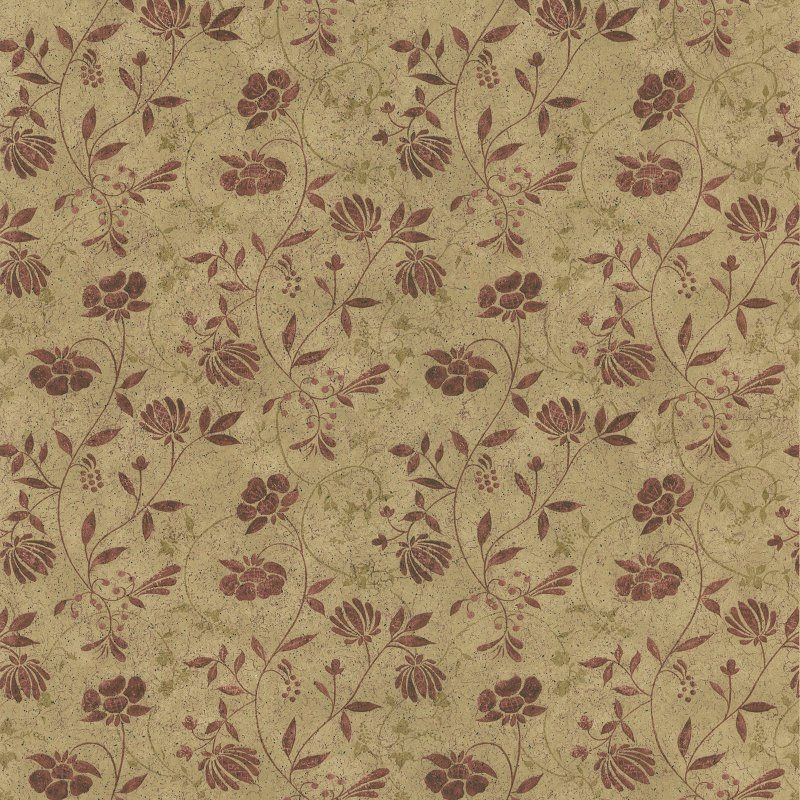 Brewster Tudor Country Jacobean Wallpaper Beige 418