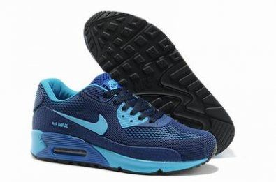 Nike Air Max 90 Hyperfuse PRM / azul claro / azul / negro http://www.esnikerun.com/