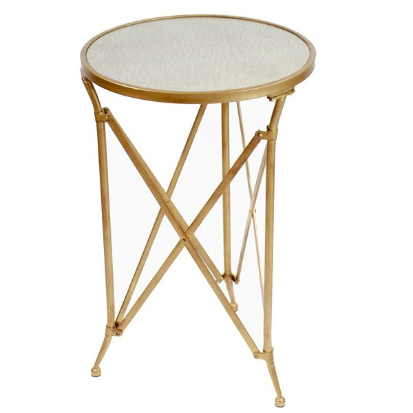 Mercury Gl Top Metal Table 26 Inch Tall Antique Gold Ping Great Deals On Coffee Sofa End Tables