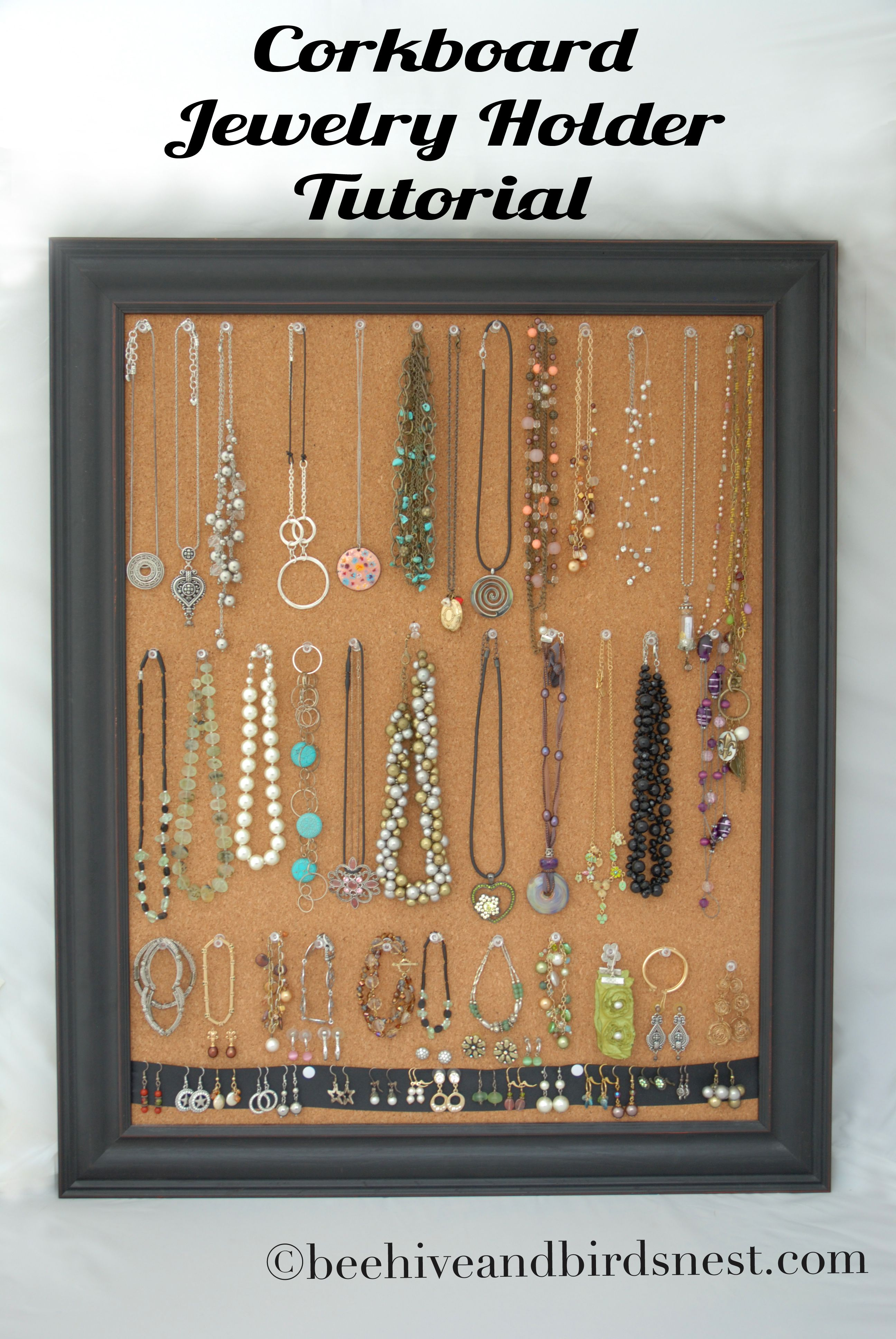 Cork Board Jewelry Holder Another Cute Idea For The Girls Christmas Gifts