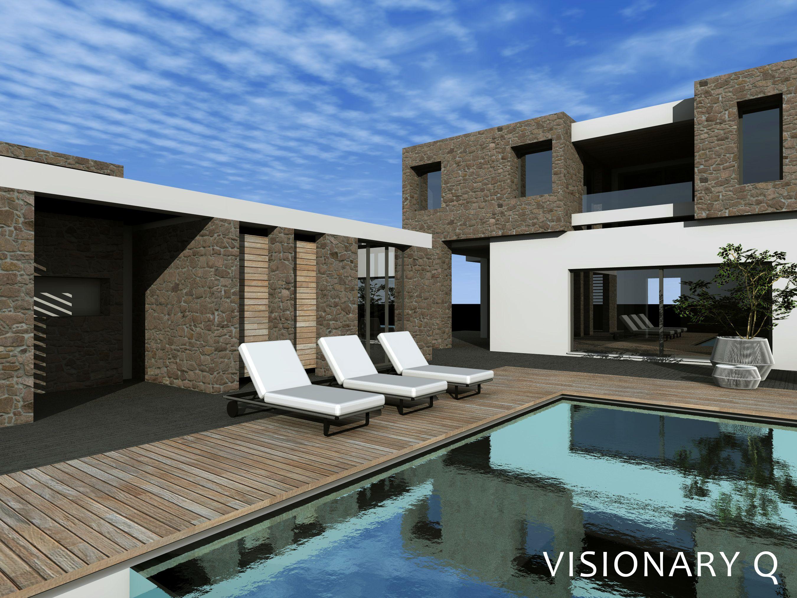 Greek Island summer villa, designed by VISIONARY Q