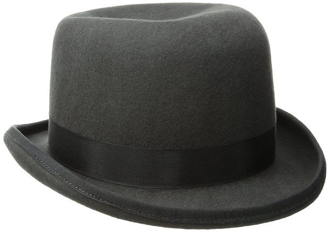29f4c981 Scala Men's Wool Felt Derby Hat, Charcoal, Large | Caps
