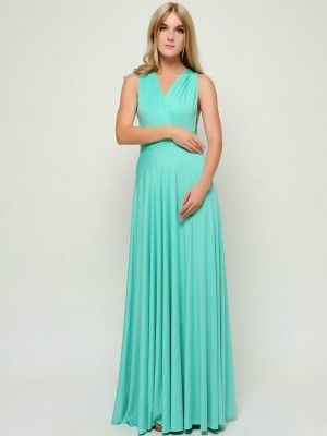 Aqua Green Long Infinity Dress Convertible Dress Convertible Bridesmaid Dress Convertible Bridesmaid Dress Bridesmaid Dresses Long Convertible Dress