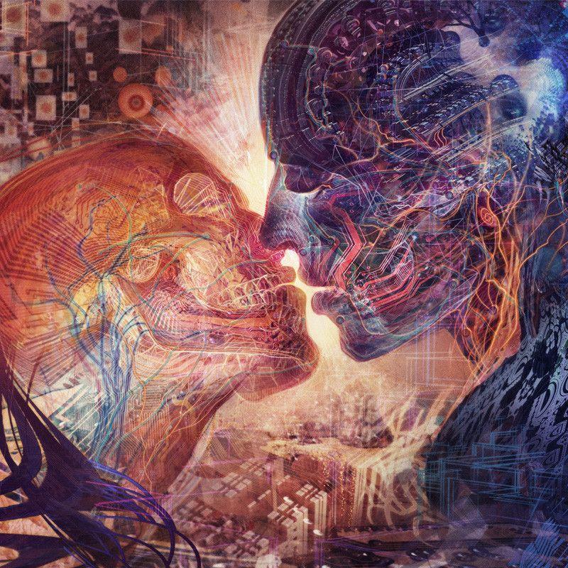 Electric Love Visionary Art Alex Gray Art