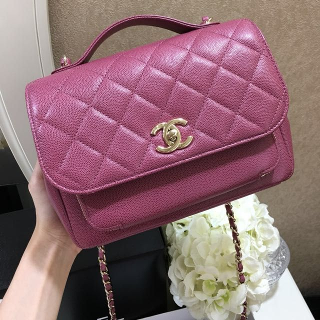 ae84af413ae22 (SOLD) 🌸 Chanel Medium Business Affinity Flap Classic Quilted In Mauve  Purple Pink Caviar