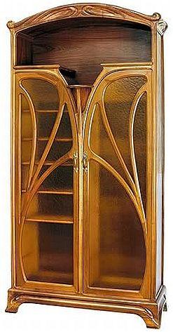 Art Nouveau Meubels Antiek.Art Nouveau Two Door Bookcase 20th Century And