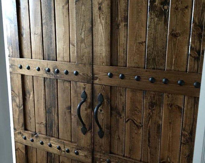TV cover – TV hide barn door set – rustic TV barn door – sli…