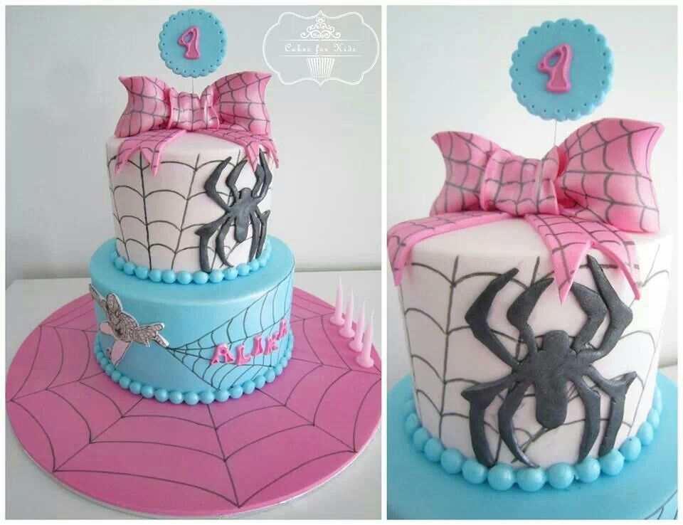 Spiderman Cake With A Girly Twist Kids Birthday Parties Cakes And