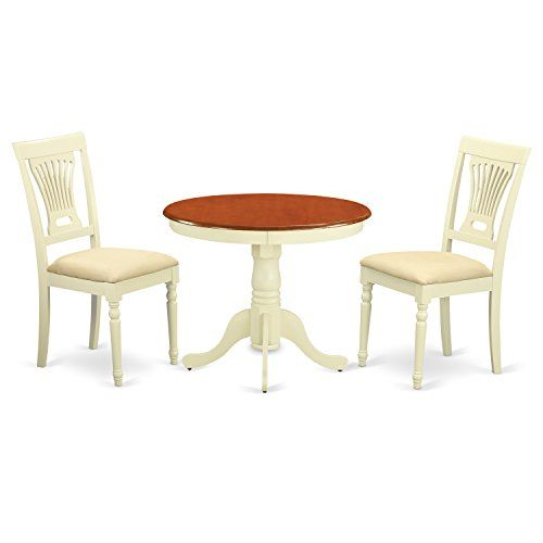 East West Furniture Anpl3 Whi C 3 Piece Kitchen Nook Dining Table