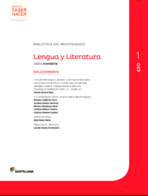 19 Ideas De Solucionarios De 1 Eso En 2021 Ejercicios Resueltos Lengua Y Literatura Lengua Castellana