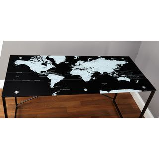 Simple living world map black desk world map desk black simple living world map black desk overstock shopping great deals on simple living desks gumiabroncs Images