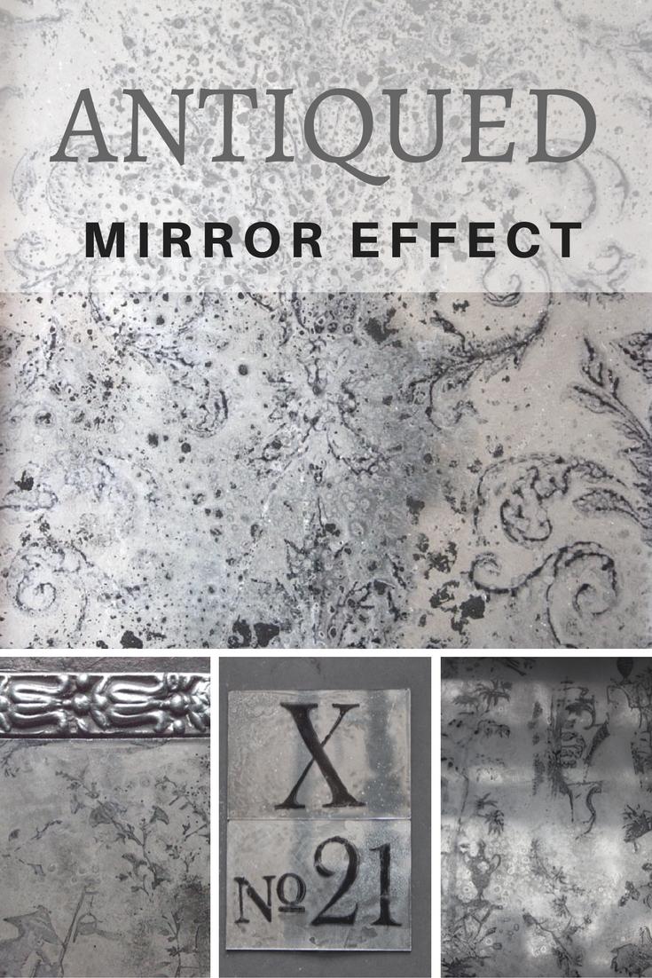 Antiqued Mirror Effect Thicketworks Diy Mirror Antique Mirror Diy Antique Mirror