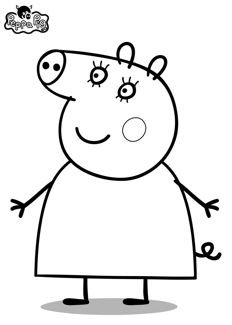 Peppa Pig Coloring Pages | Bratz Coloring Pages | Felt | Pinterest ...