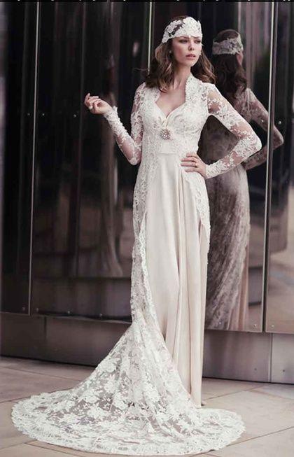 1920s Wedding Dress Kleid Hochzeit Hochzeitskleid Spitze Hochzeitskleider Vintage