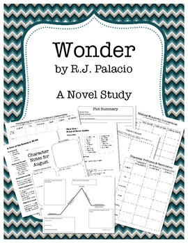 Wonder By R J Palacio Novel Study Unit By Nicholas Reitz Teachers Pay Teachers Novel Studies Novel Study Units Teaching Wonder