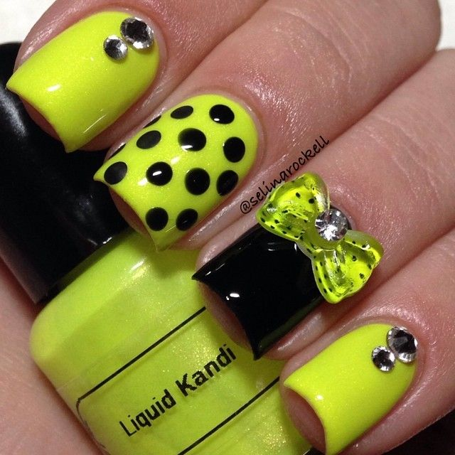 Neon yellow nails✴✳ | Nail Art | Pinterest | Moños, Uñas acrílico ...