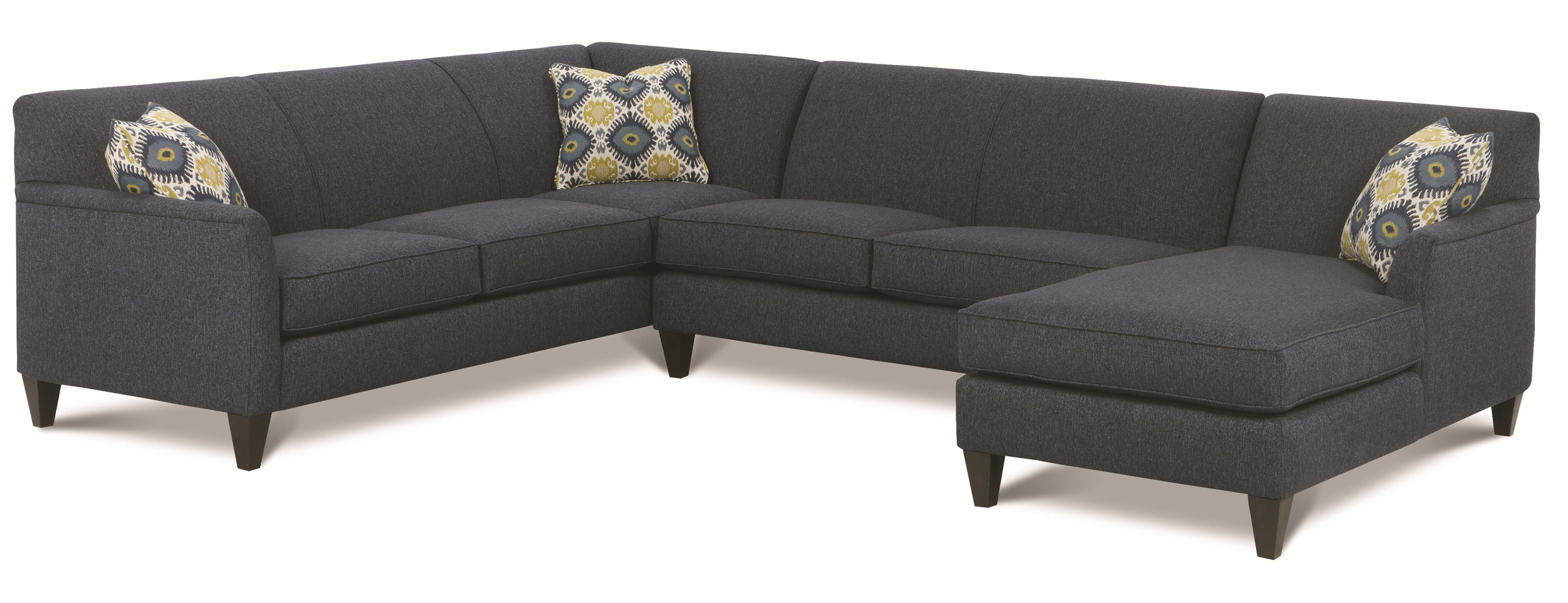 Varick RXO Custom 3 Pc Sectional w LAF Chaise by Rowe Ordered as