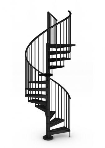 Escalera tecno exterior. escalera de caracol con eje central de ...