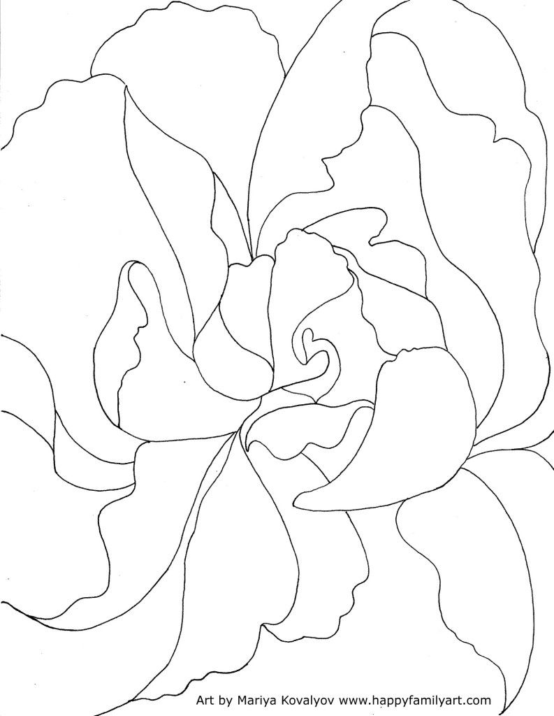 Happy Family Art Free Georgia OKeeffe Coloring Page