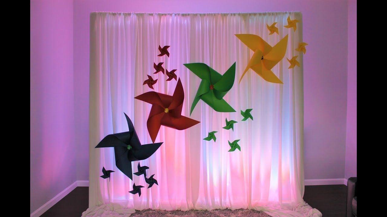 PinWheel Backdrop DIY | Diy backdrop, Pinwheels, Backdrops