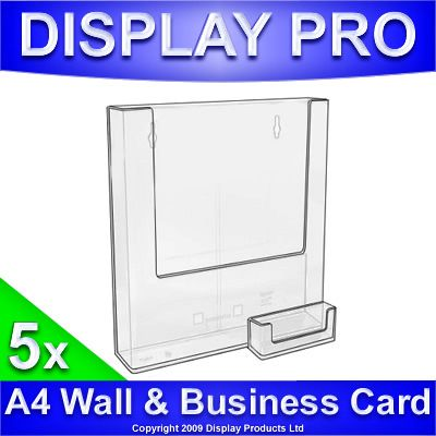 Httpebayitm5x a4 wall mount magazine leaflet holders business card displays httpebayitm5x reheart Images