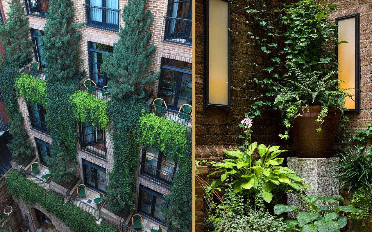 Courtyard Of The Greenwich Hotel Nyc