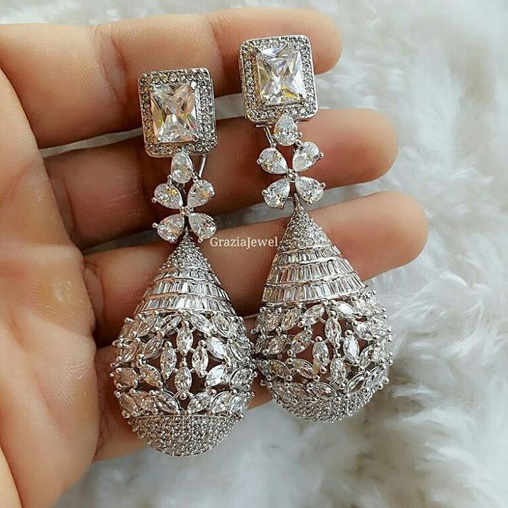 dbc765701 Image result for marquise diamond earrings designs | Aretes in 2019 ...