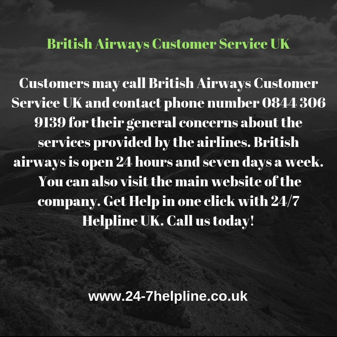 Customers May Call British Airways Customer Service Uk And Contact