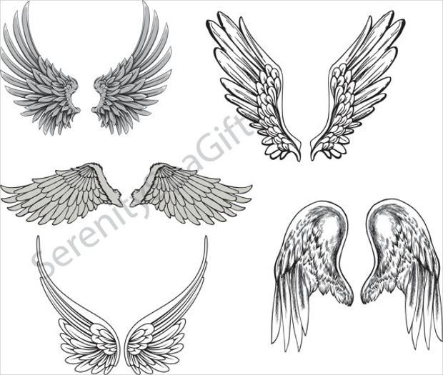 vector art of angel wings logo shannon   maria Bee Outline Vector Black and White Bee Vector
