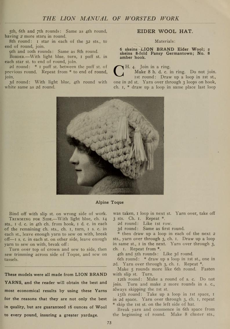 Free Vintage Crochet Using Lionbrand Yarn Crochet Hat Worsted