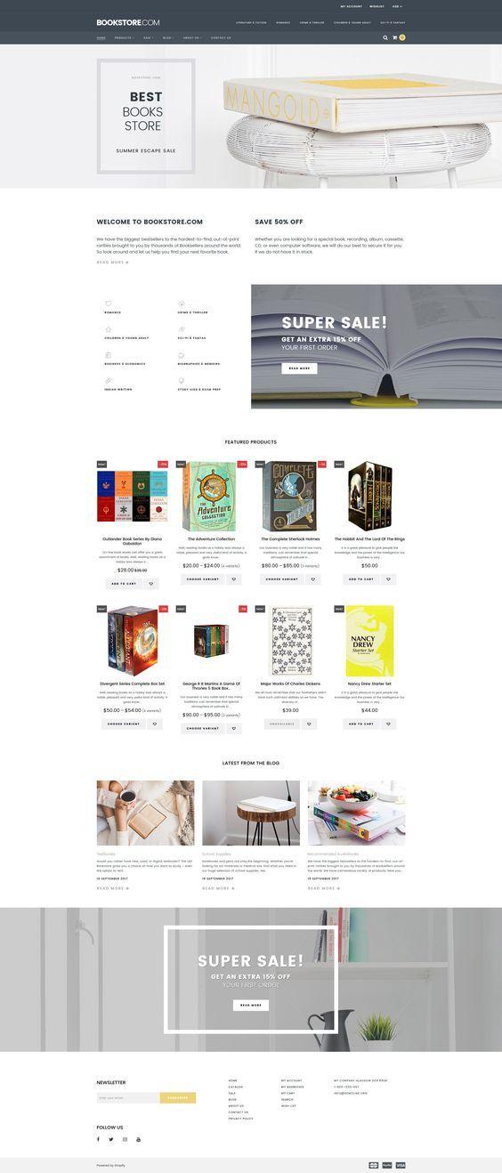 Ecommerce Website Homepage Design - valoblogi.com