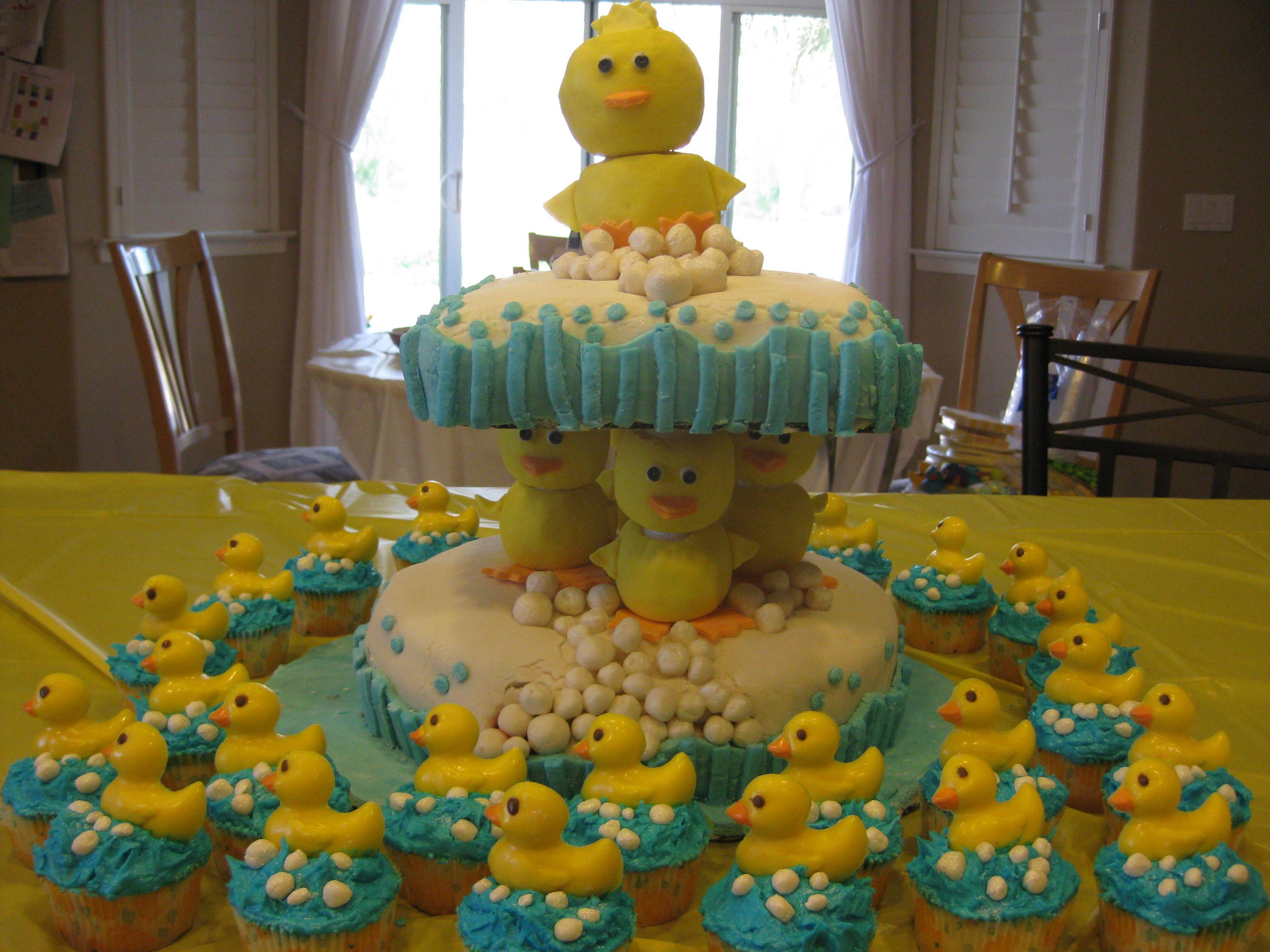 Rubber duck baby shower cake Babyshower Cakes Pinterest