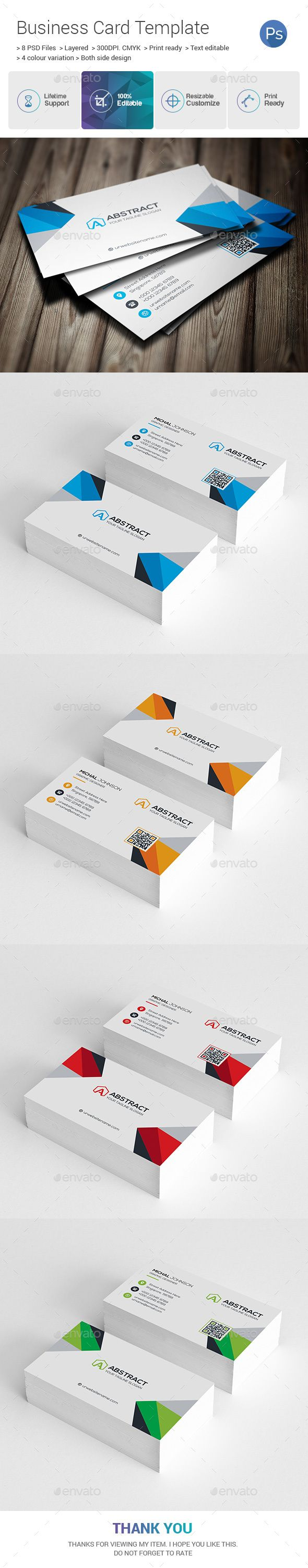 Abstract Corporate Business Card Corporate Business Business