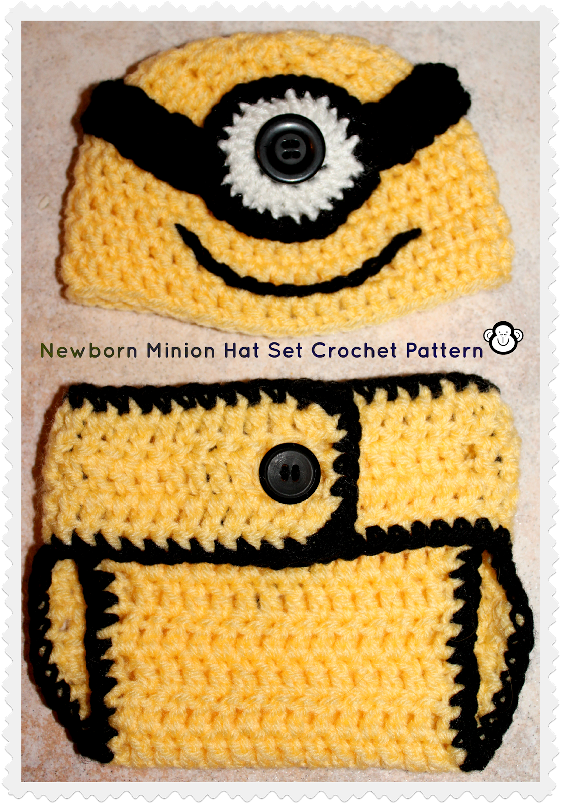 3 monkeys mommy despicable me inspired newborn accessories 3 monkeys mommy despicable me inspired newborn accessories crochet pattern i would do the diaper cover blue like their overalls bankloansurffo Gallery