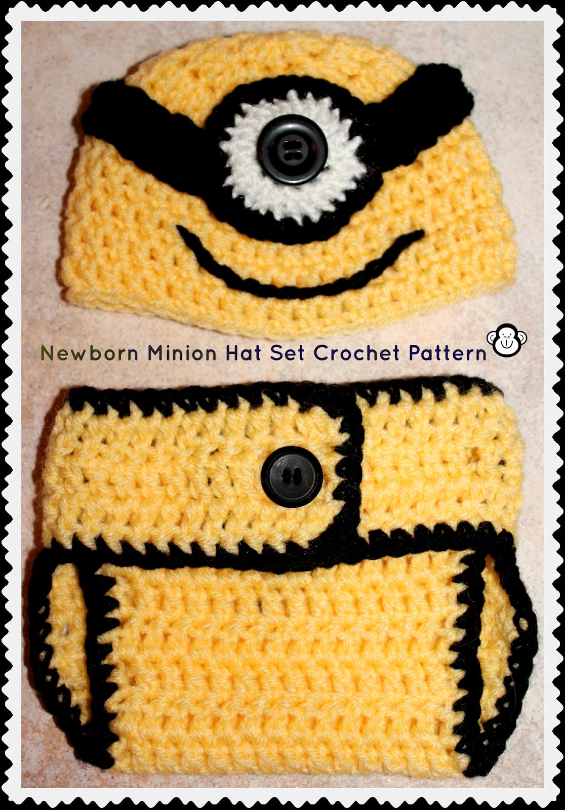 Único Despicable Me Minion Patrón De Crochet Sombrero Cresta - Manta ...