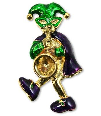 Jester Pin with Saxaphone