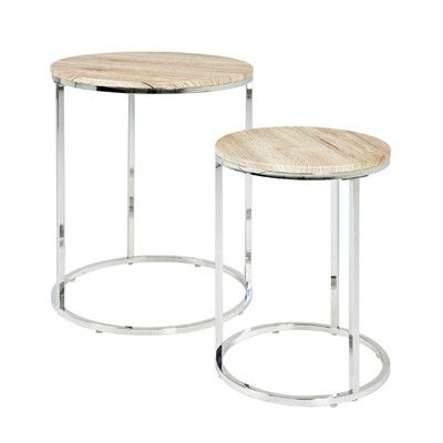 2 Round Coffee Tables