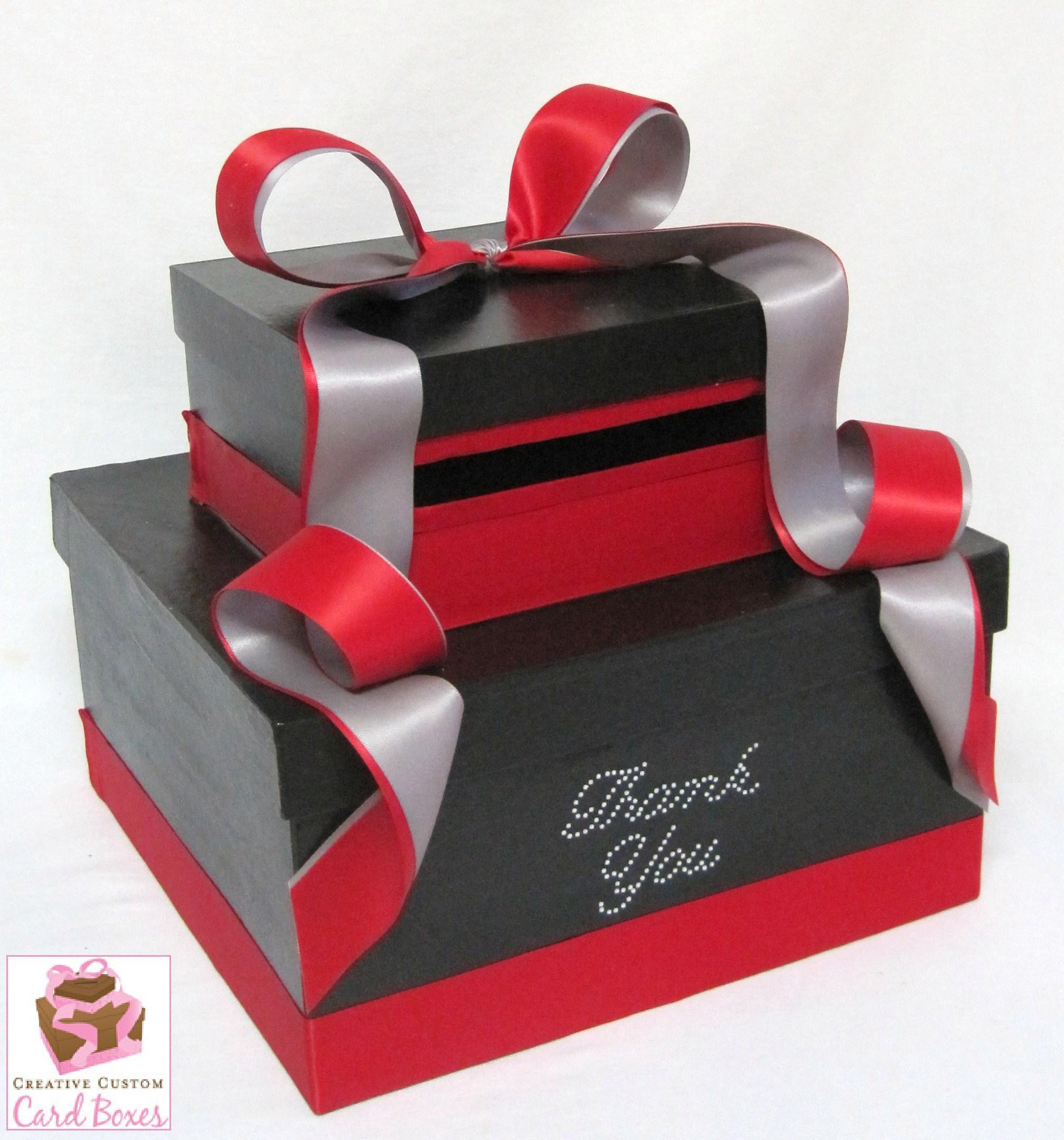 Black And Red Ribbon Wedding Card Box Ideas Pinterest Wedding