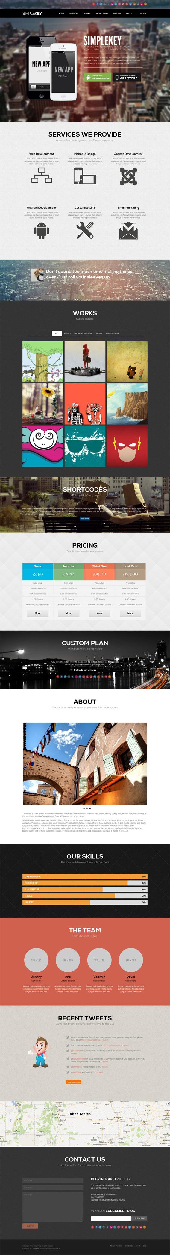 SimpleKey Joomla e Page Creative Portfolio Template on Behance